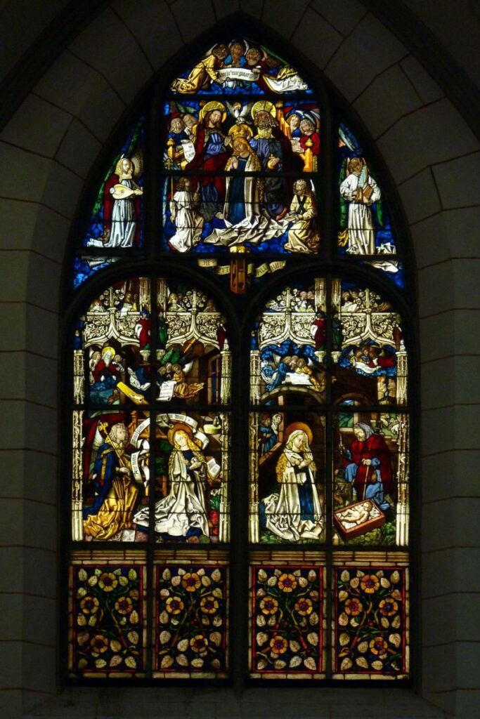 Augsburg Cathedral stained glass windows