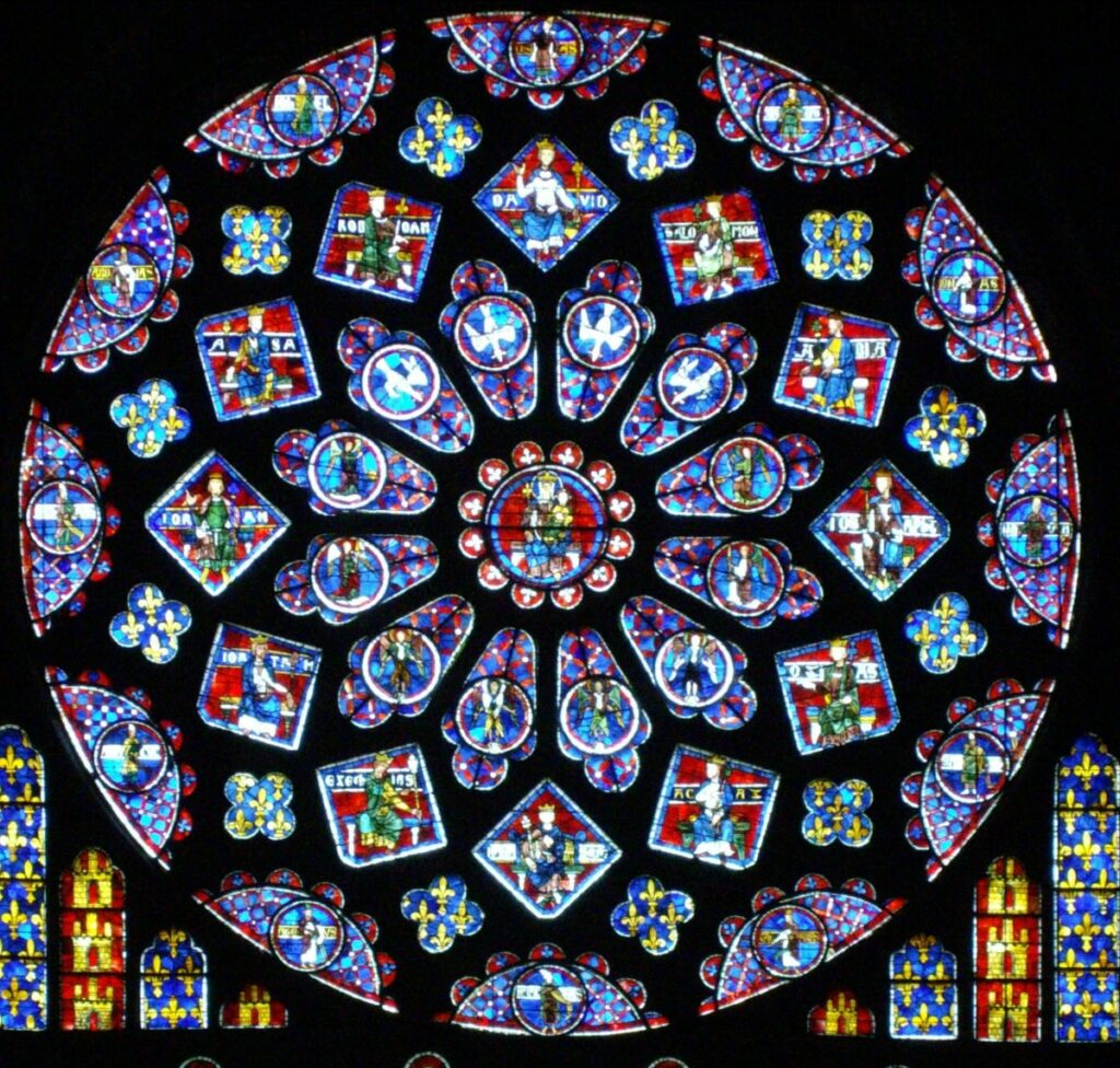 Chartres Cathedral stained glass windows
