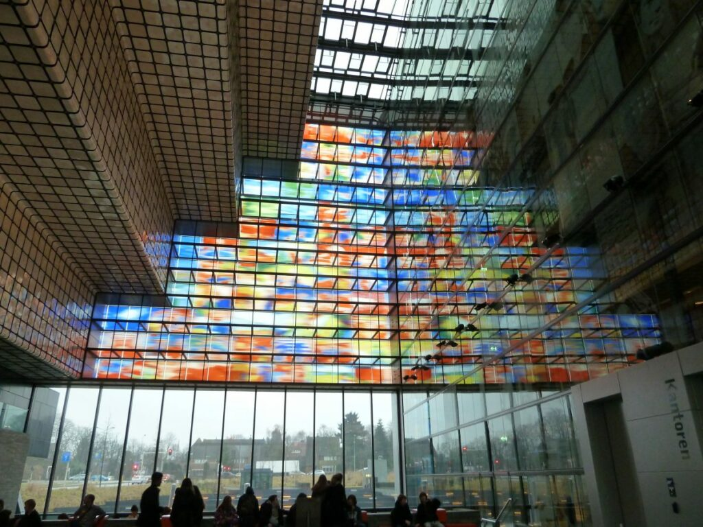 Netherlands Institute of Sound and Vision stained glass windows