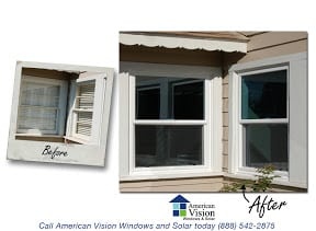 Before and After Replacement Windows 9